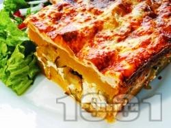 Картофи огретен на фурна със сирене, настърган кашкавал, прясно мляко и яйца - снимка на рецептата